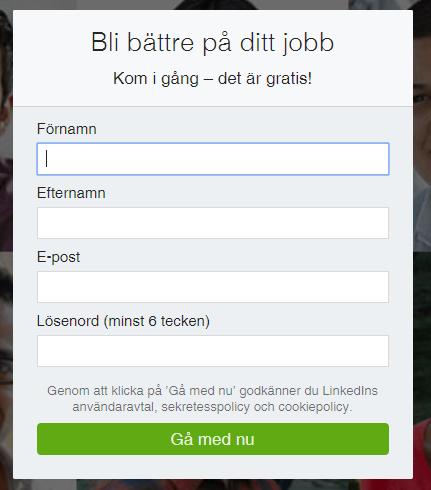 Linkedin konto